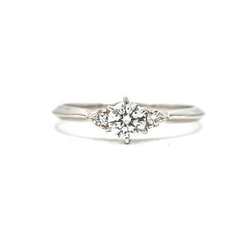 0.30ct Diamond Ring Heart & Arrow VS Class Certificate