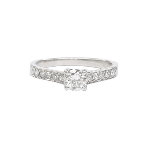 Certified Diamond Ring 0.30ct SI clarity in Platinum