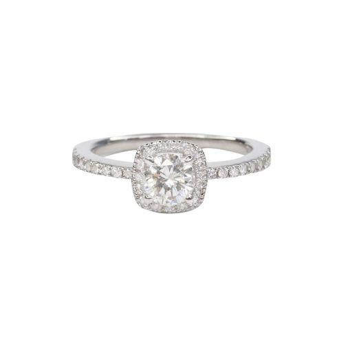 Diamond 0.30ct up Halo Diamond Ring in Platinum