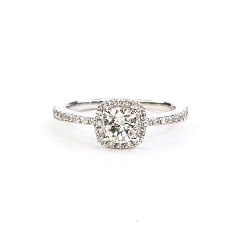 Certified Diamond Ring 0.50ct up in Platinum