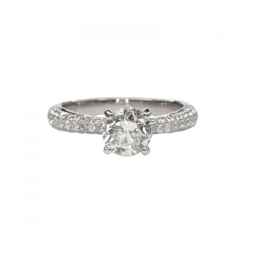 Platinum Ring with Certified Diamond 1ct up, I1 Clarity